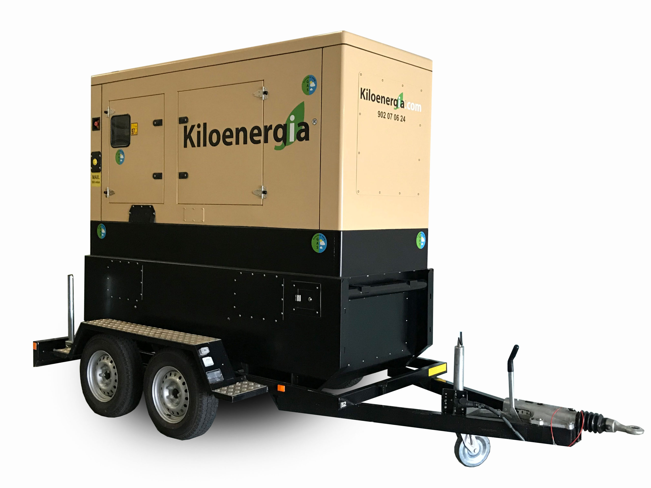 Generador elèctric super-insonoritzat a gas